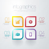 Modern  infographic. Modern info graphic for presentation and all media Royalty Free Stock Photo