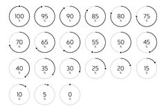 Modern Infographic Loading Circle Set - Black Royalty Free Stock Photos