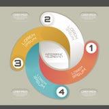 Modern infographic mall Arkivfoton