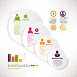 Modern infographic mall för affärsdesign med anförandebalo Arkivbild