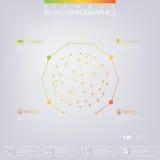 Modern infographic mall för nätverk 3D med stället för din text Användas för workfloworientering, kan diagram kartlägger nummeral Royaltyfri Fotografi