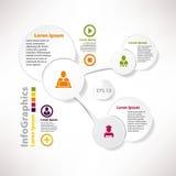 Modern infographic mall för lag Royaltyfri Bild