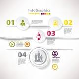 Modern infographic mall för wi för affärsdesign Arkivbilder
