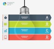Modern infographic mall med symbolsdesign för ljus kula Royaltyfri Bild