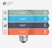 Modern infographic mall med symbolsdesign för ljus kula Fotografering för Bildbyråer