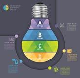 Modern infographic mall med symbolsdesign för ljus kula Royaltyfria Foton