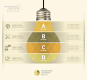 Modern infographic mall med symbolsdesign för ljus kula Royaltyfria Bilder