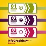 Modern infographic malplaatje Stock Foto's