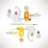 Modern infographic malplaatje voor bedrijfsontwerp Stock Afbeelding