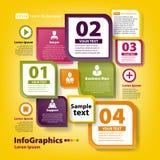 Modern infographic malplaatje voor commercieel team Royalty-vrije Stock Foto