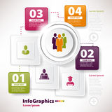 Modern infographic malplaatje voor commercieel team Stock Foto