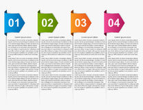 Modern infographic. Multicolored arrows. Royalty Free Stock Photography