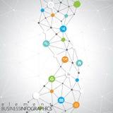Modern infographic nätverksmall med stället för din text Användas för workfloworientering, kan diagram kartlägger nummeralternati Arkivfoton