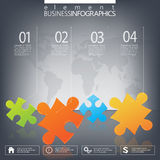 Modern infographic network template with place for Royalty Free Stock Photos