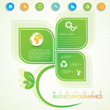 Modern infographic network template with place for Stock Image