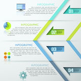 Modern Infographic Numbered Template. Abstract infographics template design with numbered arrows - vector illustration. Business concept with four options, parts Vector Illustration