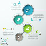 Modern Infographic Numbered Template. Abstract infographics template design with numbered circles - vector illustration. Business concept with four options Royalty Free Illustration