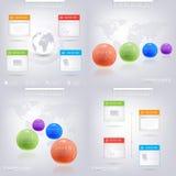 Modern infographic ontwerp met plaats voor uw tekst Royalty-vrije Stock Afbeeldingen