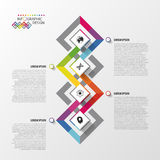 Modern infographic optieontwerp Kleurrijk abstract malplaatje Vector illustratie Royalty-vrije Stock Foto