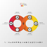 Modern infographic option banner. Abstract round infinity. Royalty Free Stock Photo