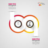 Modern infographic option banner. Abstract round infinity. Stock Image