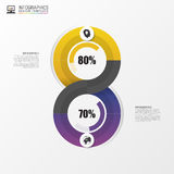 Modern infographic option banner. Abstract round infinity. Vector Royalty Free Stock Images