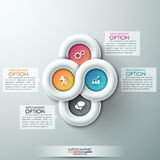 Modern infographic option banner. With abstract round ribbon. Vector. Can be used for web design and  workflow layout Vector Illustration