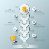 Modern infographic option banner Royalty Free Stock Images