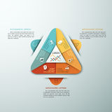 Modern infographic option banner. 3d modern infographic option template with pyramid made of colorful paper sheets for 6 options. Vector. Can be used for Stock Illustration