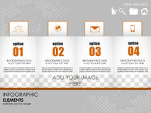 Modern infographic option banner. Design for diagram, web design, workflow layout and template for your content Royalty Free Stock Photos