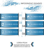 Modern infographic option banner. Design for diagram, web design, workflow layout and template for your content Royalty Free Stock Photo