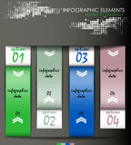 Modern infographic option banner. Design for diagram, web design, workflow layout and template for your content Stock Photo