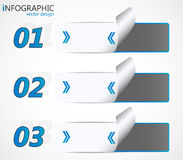 Modern infographic option banner Stock Photography