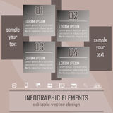 Modern infographic option banner with four steps. Design for business concept, workflow layout or diagram with place for your content Royalty Free Illustration