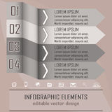 Modern infographic option banner with four steps. Design for business concept, workflow layout or diagram with place for your content Vector Illustration