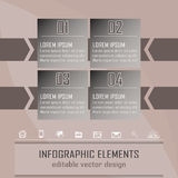 Modern infographic option banner with four steps. Design for business concept, workflow layout or diagram with place for your content Stock Illustration
