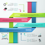 Modern infographic option banner Stock Photos