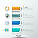 Modern infographic option banner Royalty Free Stock Photography