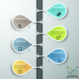 Modern infographic option banner Stock Images