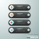Modern infographic option banner. Modern infographics options banner for 4 options made of dark and white paper geometric shapes. Vector. Can be used for web Stock Illustration