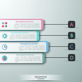 Modern infographic option banner. Modern infographics options banner for 4 options made of dark and white paper geometric shapes. Vector. Can be used for web Vector Illustration