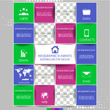 Modern infographic option banner with squares. Design for diagram, web design, workflow layout and template for your content Royalty Free Stock Images