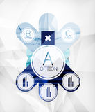 Modern infographic option layout Royalty Free Stock Image