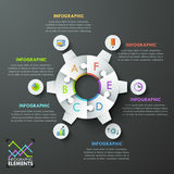 Modern infographic options banner. Royalty Free Stock Images