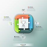 Modern infographic options banner. Stock Photography