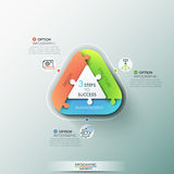 Modern infographic options banner. Stock Images