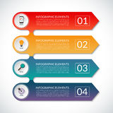 Modern infographic options banner with 5 steps, options, parts. Modern arrow infographic elements. Vector template for infographics with 4 steps, options, parts Stock Photo