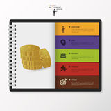 Modern Infographic options in diary. Business concept. Vector Stock Photography