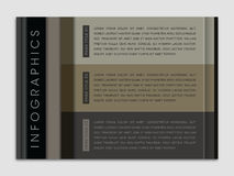 Modern Infographic Page Layout. Modern page layout template Stock Photo