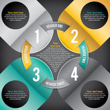 Modern Infographic. A modern infographic perfect for business, education, project workflow, step-by-step instructions, and more. Vector eps 10. File is layered Royalty Free Stock Photo